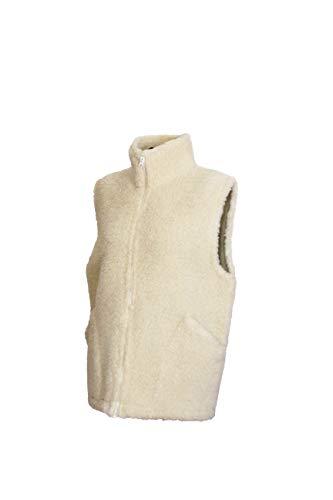Karbaro Weste aus Schafwolle mit Stehkragen Weiß (XL)