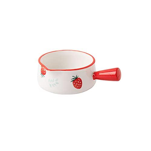 DSFHKUYB Tazones de Sopa de Cebolla Francesa, tazón de Sopa con diseño en Relieve de Piedra degradada de cerámica con un Solo Mango para Sopa, estofado de Carne, Chile, Avena,C,L