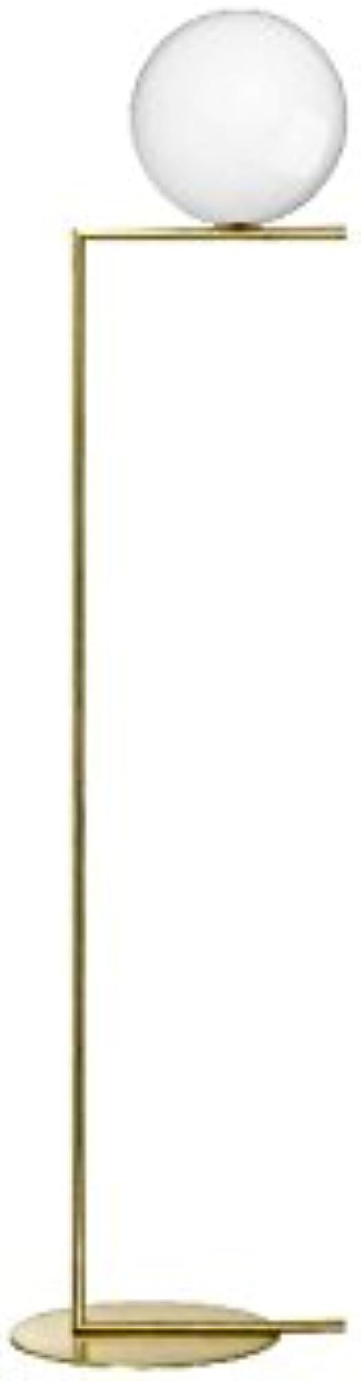 Flos ic f2 lampada da terra ottone e vetro soffiato F3174059
