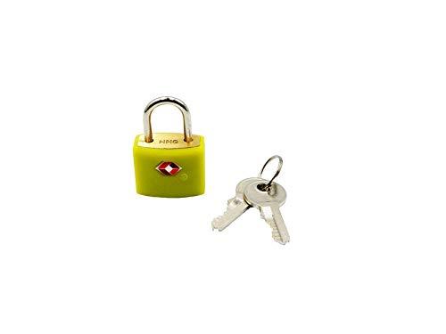 Logic(ロジック) TSA対応 ロックフック型 南京錠 (グリーン) シンプル 小型 鍵 [郵便受け/スーツケース/旅行]