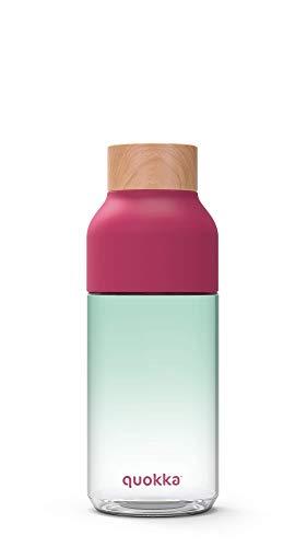Quokka Ice - Nature 720 ML  Botella de Agua Reutilizable de Tritan - Libre de BPA   Amplia Apertura para Rellenar y con tapón antigoteo