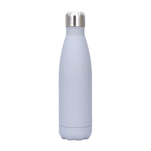 HUIHU Termo de Acero Inoxidable Aislamiento al vacío, Botella de Copa de Cola, Botellas de Agua Mate, Utensilios para Viajes al Aire Libre, Frasco Deportivo para Gimnasio, 500 ml