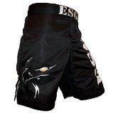 Negro Genuino MMA ESG Kickers Combate De Boxeo Lidiando Short Cage - XL