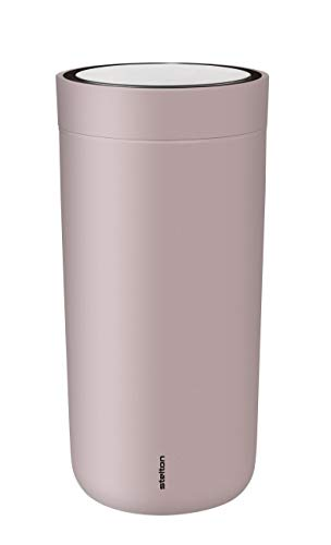 To Go Click Thermobecher 0,2L, lavendel matt pulverbeschichtet doppelwandig H 14cm Ø 7,2cm smart-click Funktion 360° Position Innenwand Edelstahl