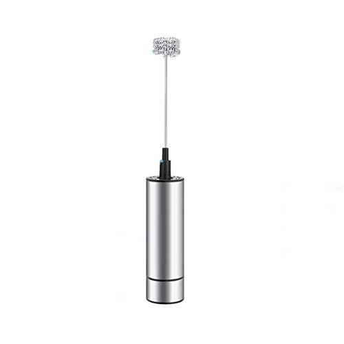 Ba30DEllylelly Montalatte elettrico portatile Schiuma per caffè Miscelatore per frullatore per bevande Frullatore a tripla molla Testa e spazzola pulita Utensili da cucina