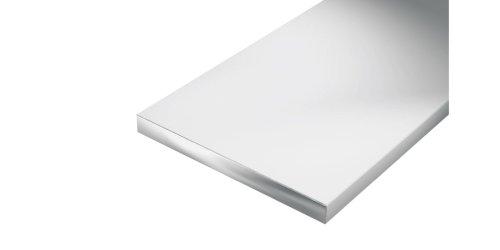 GAH-Alberts 469887 Flachstange - Aluminium, natur, 1000 x 20 x 5 mm