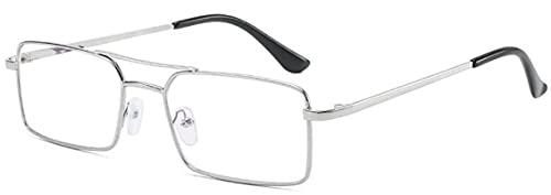 Gafas De Sol Gafas De Sol Rectangulares Retro para Mujer, Gafas De Lujo Steampunk De Metal, Gafas De Sol Vintage para Hombre, Uv400, Silverclear
