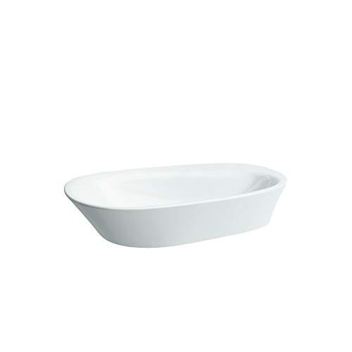 Laufen Palomba Waschtisch-Schale, ohne Hahnloch, ohne Überlauf, mit Hahnlochbank, 600x400, Farbe: Weiß
