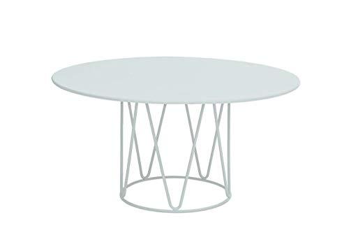 DUAMY Mesa Redonda para jardín. Mesa de ø90 x 45 cm. Mesa de la colección Lagarto. Mesa Modernas para Disfrutar de barbacoas al Aire Libre con Tus Amigos o Familiares.