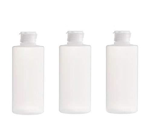 3 x leere nachfüllbare transparente Kunststoff-Tube Quetschflasche mit Klappdeckel Reiseflasche Make-up Kosmetik Toilettenartikel Aufbewahrungsbehälter für Shampoo Duschgel Toner Lotion durchsichtig