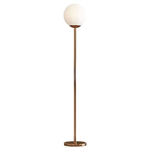 GLXLSBZ Lámpara de pie para el hogar, Bola de Cristal Minimalista Moderna, lámpara de pie Vertical, decoración nórdica, Dormitorio, mesita de Noche, Sala de Estar, sofá