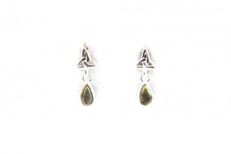Silverspirit Jewellery Connemara Marble Stone-Ohrringe Silber Knoten der Dreisamkeit
