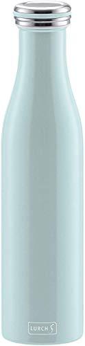 Lurch 240924 Isolierflasche / Thermoflasche für heiße und kalte Getränke aus doppelwandigem Edelstahl 0,75l, mint