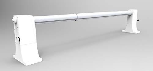 International Pool Protection Enrollador de bateria, Extensible para Piscinas de hasta 5.55 Metros de Ancho con Tubo de 102mm de Ø