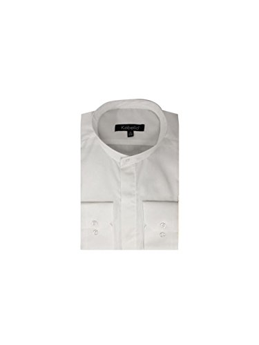 Kebello Chemise col Mao Taille : Homme Blanc S