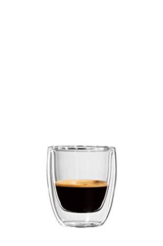 bloomix Roma Espresso 80ml, doppelwandige Thermo-Kaffeegläser im 2er-Set