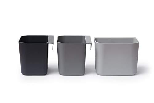 Linea Organisationselemente 3 Stück Boxen in Farbe: dusty grey. Können eingehängt werden auf Brettern oder Streben mit einer Dicke bis zu ca.1,2 cm!!!