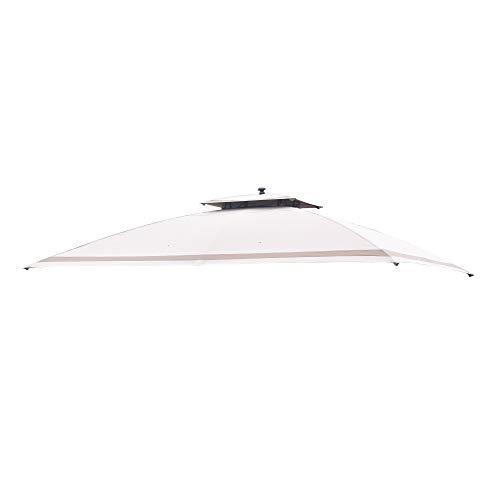 Sunjoy 110109476 Replacement Canopy for L-GZ672PST-G 10x10 Valence Gazebo