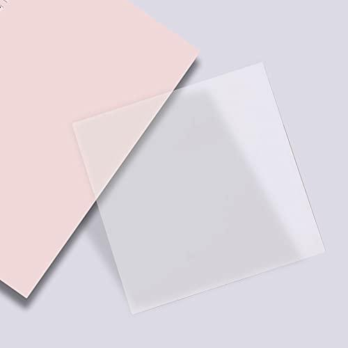 Notas adhesivas transparentes,200 piezas de almohadilla autoadhesiva impermeable, notas adhesivas translúcidas adecuadas para leer, estudiar, el hogar, la oficina, la escuela ,76 x 76 mm