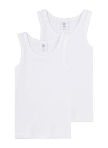 Sanetta Jungen Unterhemd im Doppelpack aus Bio-Baumwolle - Made in Europe - weiß (01), 188