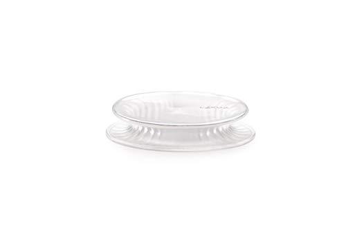 Lékué Tapa Extensible, Silicona, Blanco, 1 Unidad x 11,5 cm