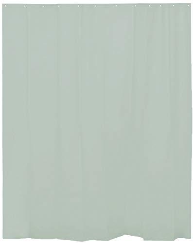 H HANSEL HOME Cortina de Ducha Lisa Verde Almendra para baño con 12 Anillas Incluidas, 50% Goma EVA y 50% de Polietileno (180 x 200cm)