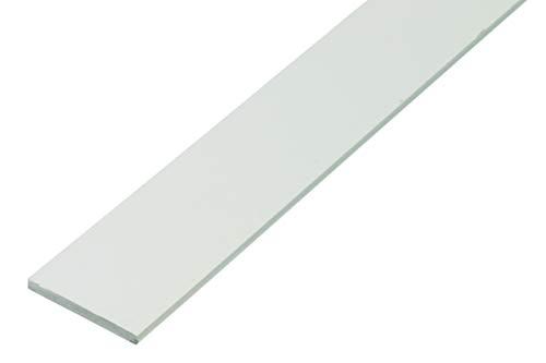GAH-Alberts 479428 Flachstange | Kunststoff, weiß | 1000 x 30 x 3 mm