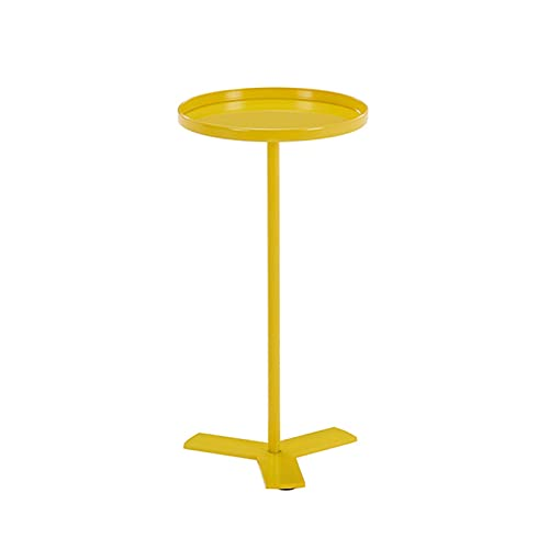 Mesa De Centro De Sofá De Hierro, Estante Movible Mini Movable, Tablas De Sofá Consolegas Tablas Fin De Sala 0602J(Color:Amarillo)