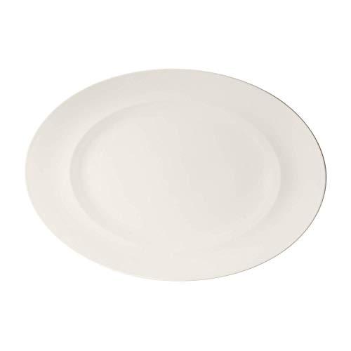 Villeroy & Boch For Me Plat de service ovale 41 cm, Porcelaine Premium, Blanc