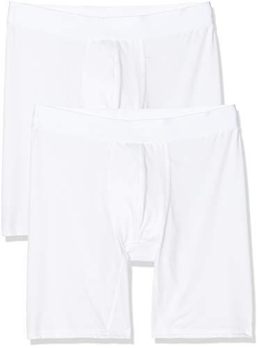 Marchio Amazon - find. - Belk063m2, Pantaloncini Uomo, Bianco (White), M, Label: M