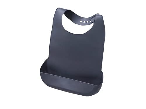 ShopINess Baberos de silicona con contenedor de comida (Gris)