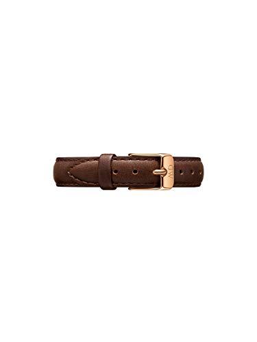 Daniel Wellington Petite Bristol, Dunkelbraun/Roségold Uhrenarmband, 12mm, Leder, für Damen