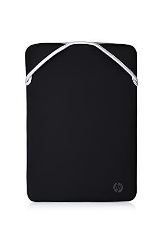 """HP - PC Protective Reversibile Sleeve per Notebook fino a 14"""", design reversibile, Nera/Argento"""