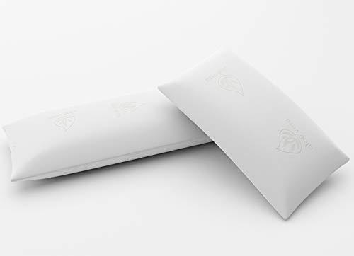Imperial Relax | Almohada Visco Copos Aloe Vera | Compacta | Doble Funda | Transpirable | Gramaje Superior | Desenfundable (2 x 60 cm)