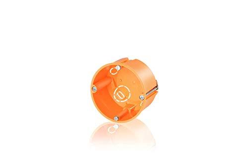 Hohlwanddose mit Metallkrallen orange 47mm Fräsloch 68mm (3 Stück)