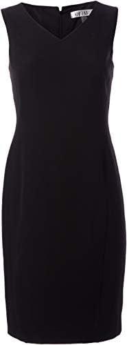 Kasper Women s Petite V Neck Sleeveless Sheath Dress Black 16P product image