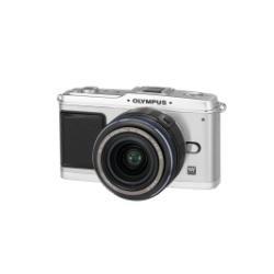 OLYMPUS E-P1 Pen Kit 14-42mm Digitalkamera 12.3 (4032 x 3024) Weiss/Silber + M. ZUIKO DIGITAL ED 14-42 mm 1:3,5-5,6 Silber Weiss/Silber