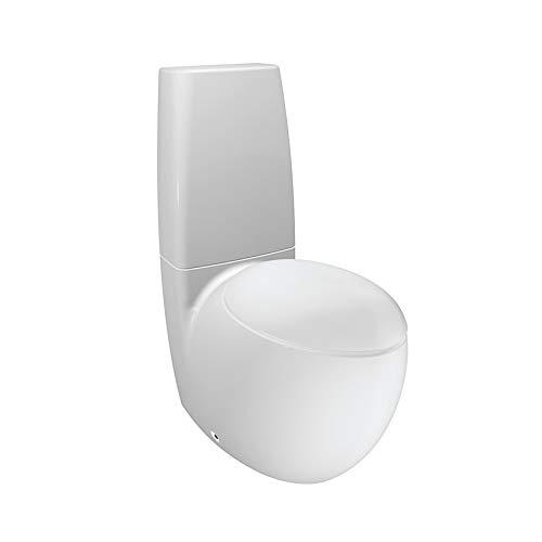 Laufen Stand-Tiefspül-WC (ohne Deckel) Alessi ONE für aufgesetzten SPK 390x720 LCC weiß, 82297640000