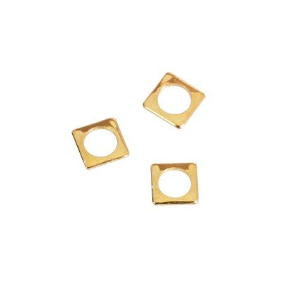 弓義務ペダルピアドラ スタッズ スクエア 中抜き(ラウンド)2.5mm 50P ゴールド