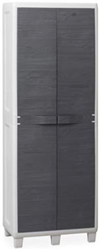 Armoire résine Toomax Woody's 033 2 Portes Range-Balai cm 65 x 38 x 178 H