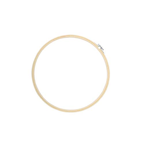 TELEIYA 8 Inch/20cm Embroidery Hoop Ring for Cross Stitch, 1 pc (Bamboo)