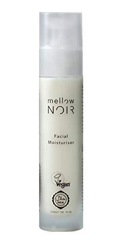 Gesichtscreme für trockene Haut | 50 ml mit Hyaluronsäure & Vitamin E | Vegane Naturkosmetik Feuchtigkeitscreme für das Gesicht für Damen & Herren | mellow NOIR Facial Moisturiser | Made in Germany