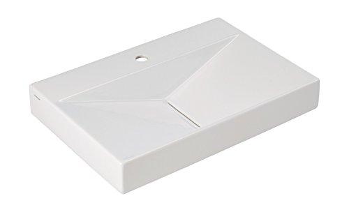 'aquaSu® Waschtisch Flux, 65 cm, Weiß, Waschbecken