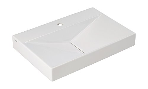 \'aquaSu® Waschtisch Flux, 65 cm, Weiß, Waschbecken