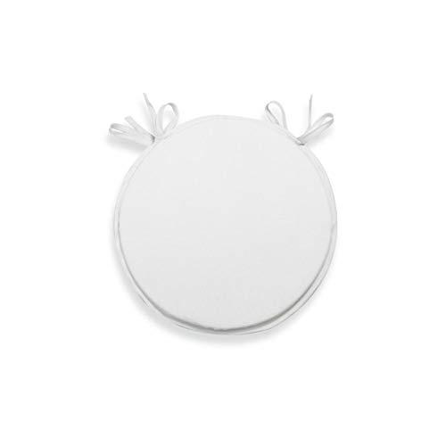 Soleil d'ocre - Cojín redondo blanco para silla