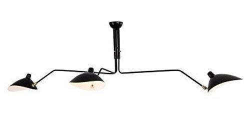 BANNAB Araña, araña Retro de Hierro Forjado, lámpara de Techo Creativa con Dientes y Garras, Pantalla LED giratoria, Adecuada para Salas de exposiciones Modernas, dormitorios, restaurantes