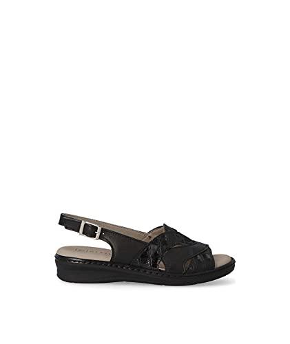 Pitillos Sandalia para mujer en color negro (Negro, numeric_40)