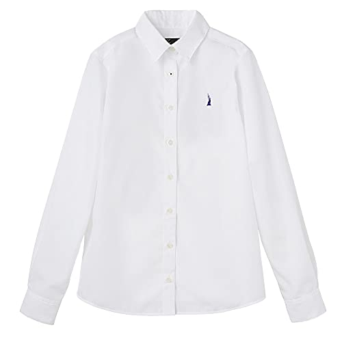 [EASTBOY] モイストキュア加工ブロードシャツ〈ミルキーグレープ女神〉 1205127 ホワイト(900) 9 号