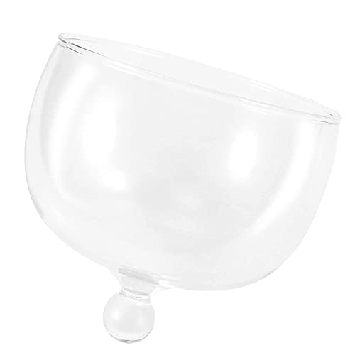 N\C DMKD Cubierta de Domo de Pastel Redondo de Vidrio Cubierta Protectora Transparente Cubierta de Domo de exhibición de Postre para Hornear Cubierta de Plato de exhibición de Postre de Pastel DMKD