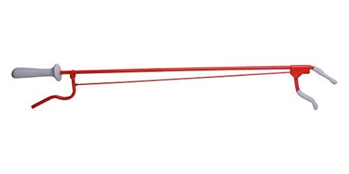 Pflegehome24® Greifhilfe Handgreifer Greifzange Metall, ca. 70cm rot